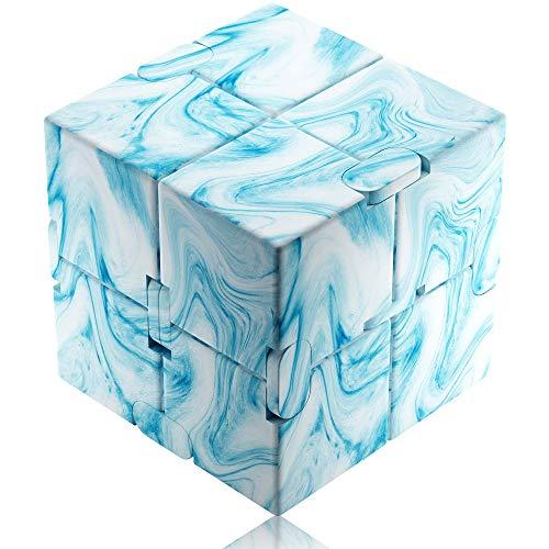Funxim Infinity Cube Toy para Adultos y niños, versión Nueva Fidget Finger Toy Stress y Ansiedad, Killing Time Fidget Toys Infinite Cube para Office Staff