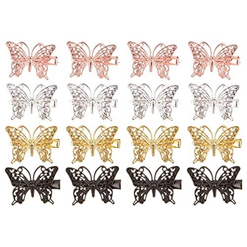 Beaupretty 16 Piezas Pinza de Pelo de Mariposa en 3D Horquillas para El Pelo de Estilo Vintage Broches Creativos para El Pelo de de Pato Broches para El Pelo con Forma de Mariposa