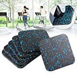 nakw88 6Pcs Treadmill Shock Absorbing Mat,Home Anti-Vibrasion Sound Insulation Thickened Floor Pad For