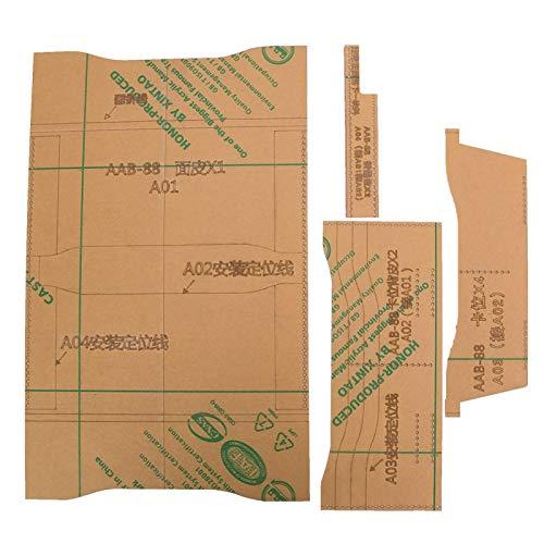 Klares Acryl-Schablonenset, Leder-Brieftaschen-Schablonenset für DIY Hand Craft Making Wallet Tools