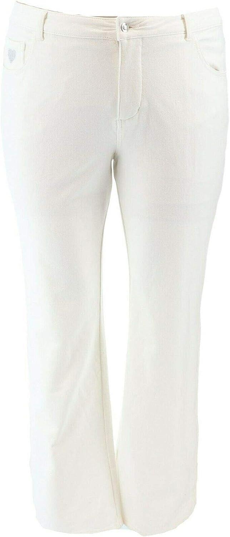 Quacker Factory Knit Denim Boot Cut Pants A210141
