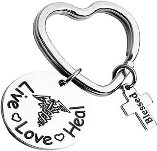 Nurse Bracelet Live Love Heal Cuff Bracelet Nurse Jewelry for RN,Nursing Graduation Student