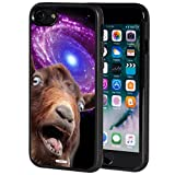 iPhone 8 Case,iPhone 7 case,AIRWEE Slim Anti-Scratch Shockproof Silicone TPU Back Protective Cover Case for Apple iPhone 8/iPhone 7 4.7 Inch, Funny Space Goat Meme