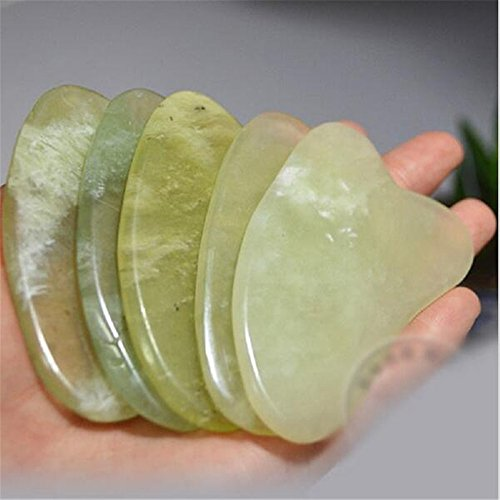 Skin Facial 5Pcs Care Gua Sha Guasha Treatment Massage Natural Jade Board Traditional Scraping Scraper Tool
