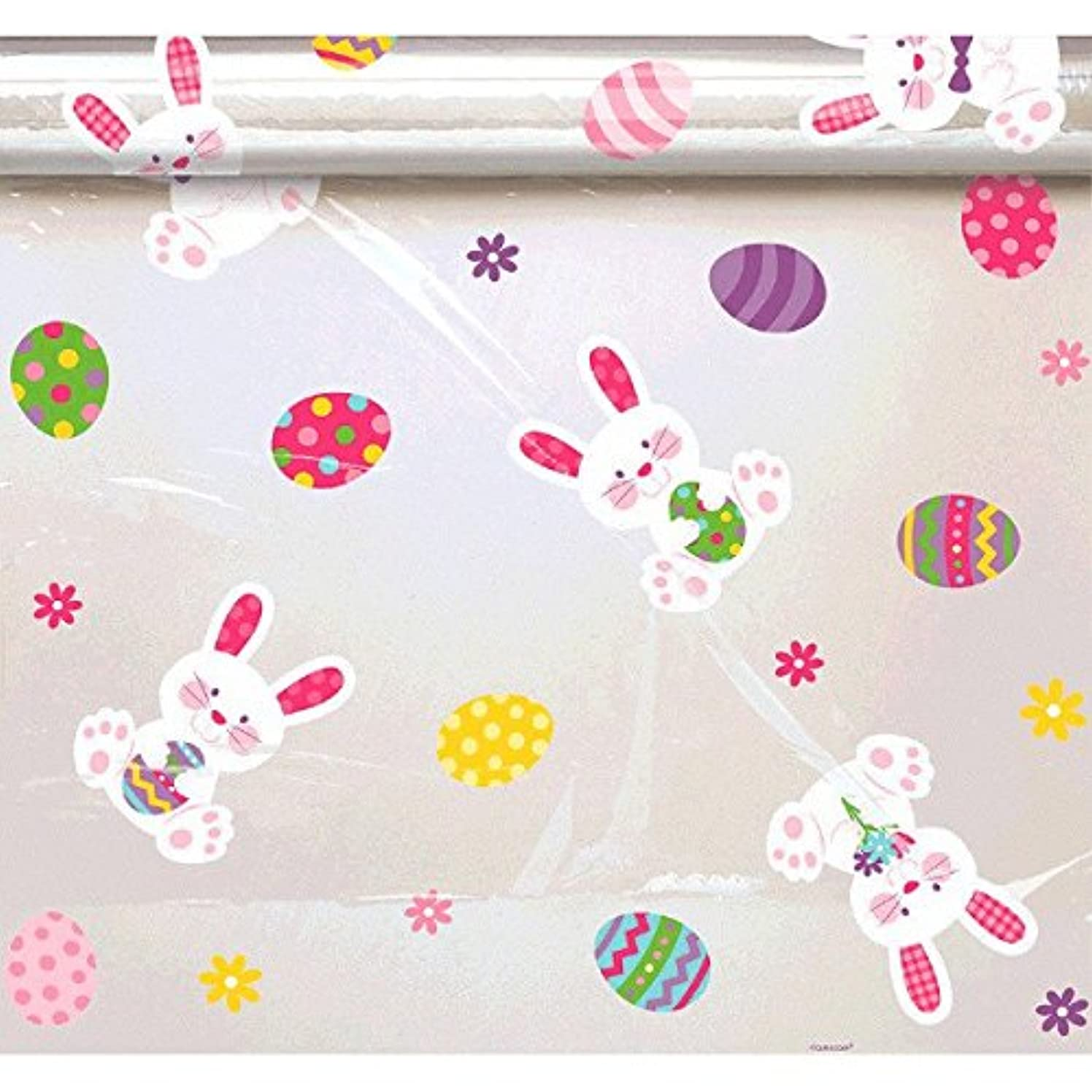 Amscan 180039 Easter Bunny Wrap, 7 1/2 feet x 40 inches, Multicolored