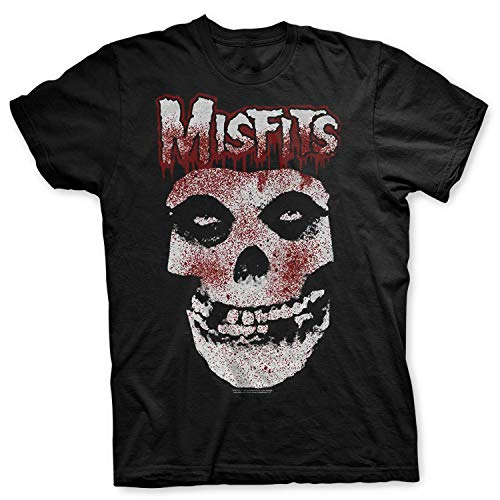 Misfits - Rock Off Officially Licensed - T-Shirt Camiseta Logo Classic Fiend Skull Crimson Ghost Blood T Shirt (X-Large)