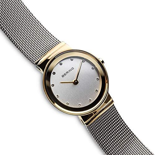 BERING Reloj Analógico Classic Collection para Mujer de Cuarzo con Correa en Acero Inoxidable y Cristal de Zafiro 10126-001