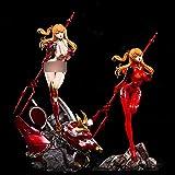 Neon Genesis Evangelion: Asuka Langley Soryu 1/4 Escala Figura Limitada con Doble Cuerpo (Cuerpo de Lucha/Cuerpo de Bikini) y Base Doble y Mecha