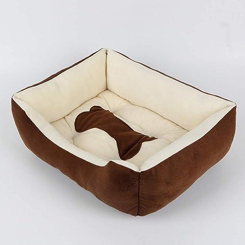 precio razonable WALSITK Perrera para Mascotas de Cuatro Piezas para Mascotas Mascotas Mascotas Suministros Peluche Perro de Peluche Dorado Mascota de Nido, 50x40x15cm  ordenar ahora