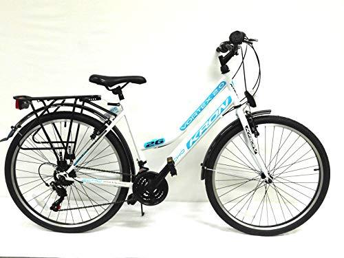 """KRON 26\"""" Zoll Fahrrad Damenfahrrad Mädchenfahrrad Citybike 21 Gang Shimano NEU"""