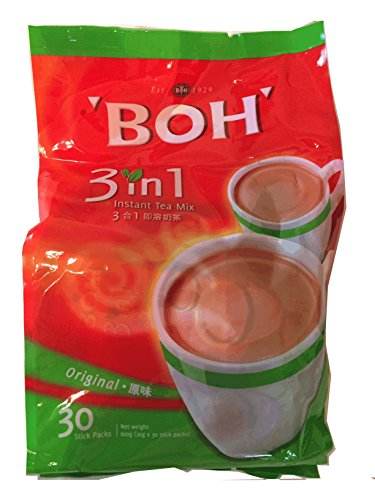 BOH・ボーティー 3 IN1 インスタント紅茶 粉末 3 in 1 (紅茶+ミルク+砂糖) 20 g x 30 スティック (600 g) [並行輸入品]