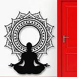 Meditación Lotus vinilo pared pegatina Yoga budista Yoga vinilo arte