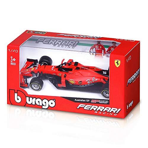 Burago Modelo A Escala Compatible con Ferrari SF90 Charles Leclerc 2019 N.16 Australian GP 1:43 BU36815L