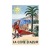Poster Französische Riviera – Côte D'Azur Reisedruck,
