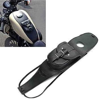 Mylujo Motorrad Pu Leder Tankverkleidung Mit Tasche Für Harley Sportsterfür Harley Sportster Schwarz Auto