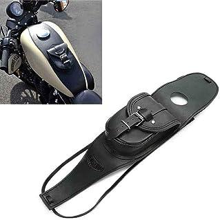 Mylujo Motorrad PU Leder Tankverkleidung mit Tasche für Harley Sportsterfür Harley Sportster Schwarz