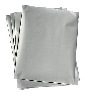 My Scratch Offs Silver 8.5 x 11 Inch Rectangle Full Sheet Scratch Off Sticker Labels - 5 Pack