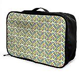 Bolsa de lona de viaje, patrón de concienciación sobre el autismo, equipaje de mano durante la noche, bolsa de viaje de moda impermeable, maletas ligeras