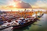 DesFoli Hafen Containerschiff Umschlagplatz Poster