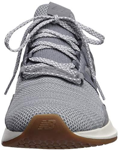 New Balance Women's Fresh Foam Roav V1 Sneaker, GUNMETAL/LIGHT ALUMINUM, 9 M US 3
