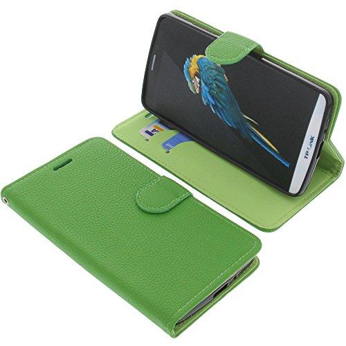 foto-kontor Tasche für TP-Link Neffos C5 Max Book Style grün Schutz Hülle Buch