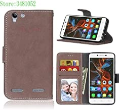 Flip Cases - Flip Phone Case for for Lenovo A6020a40 A6020a46 Vibe K5 K 5 Plus Card slot Case Leather Cover for for Lenovo A6020 a40 a46 A6020l36 bag (Brown)