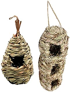 Bird Cages & Nests - Hand-Woven Eco-Friendly Birds Cages Nest Roosting, Bird House,Cozy Place,perfect Provides Shelter for...