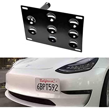 no drill Quality Front License Plate Bracket Mount Assembly for Tesla Model Y