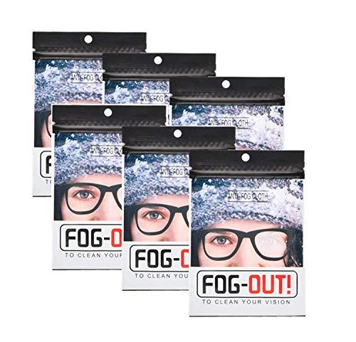 6 Pezzi Panno Antiappannante Occhiali Da Vista Per Pulizia Occhiali, Panno Antiappannamento Occhiali Riutilizzabile, Confezioni Individuali