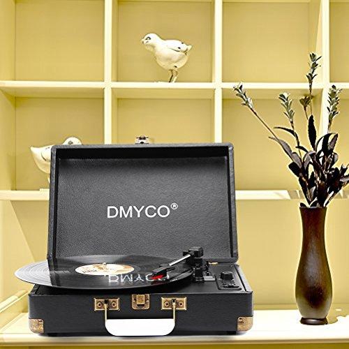 Tocadiscos Vinilo, DMYCO Tocadiscos Vintage 3 Velocidades 33/45/78 ...