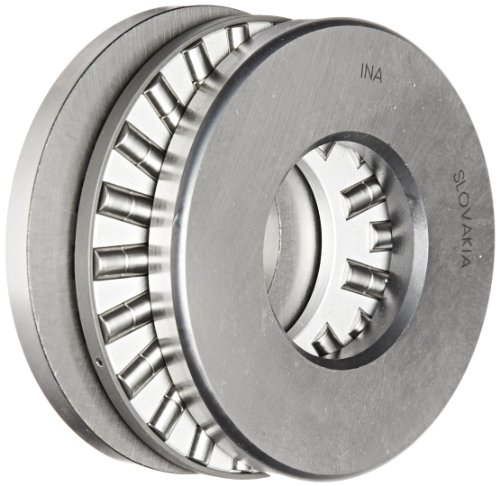 INA 87408 Cylindrical Roller Thrust Bearing, Thick Flat Race, Standard Cage, Open End, Metric, 40mm ID, 90mm OD, 23mm Width, 4400rpm Maximum Rotational Speed