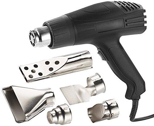 AGT Heissluftföhn: Heißluftpistole mit 2 Gebläsestufen und 5 Vorsatzdüsen, bis 1.800 Watt (Grillanzünder)