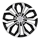 Pilot Automotive WH553-15S-BS Black/Silver 15 Inch 15' Spyder Performance Wheel Cover | Pack of 4 | Fits Toyota Volkswagen VW Chevy Chevrolet Honda Mazda Dodge Ford and Others
