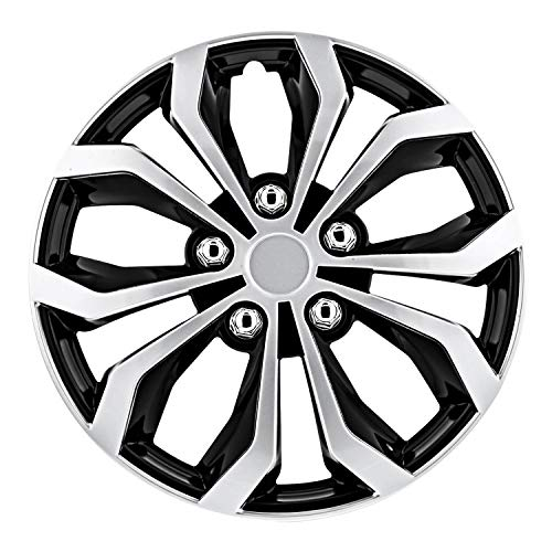 "Pilot Automotive WH553-16S-BS Black/Silver 16 Inch 16"" Spyder Performance Wheel Cover 