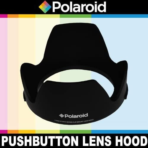 """lowest Polaroid Studio Series Lens Hood With Exclusive Pushbutton Mounting System - no more 'screwing around"""" With online Old Fashioned Threaded Hoods For The Pentax K-3, K-50, online sale K-500, K-01, K-30, K-X, K-7, K-5, K-5 II, K-R, 645D, K20D, K200D, K2000, K10D, K2000, K1000, K100D Super, K110D,ist D,ist DL,ist DS,ist DS2 Digital SLR Cameras Which Has Any Of These (18-55mm, 50-200mm) Pentax Lenses outlet online sale"""
