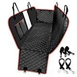look envy Heavy Duty Dog Back Seat Cover Protector, Waterproof and Scratch-Proof 600D Oxford Cloth Rear Seat Cover, Pet Dog Hammock Back with Mesh Window for Cars, Trucks & SUVs