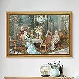 Cuadro En Lienzo Decoración clásica del hogar de la Imagen de la Pared de la nobleza del Tribunal para los Carteles de la Sala de estar80x120cmPintura sin Marco