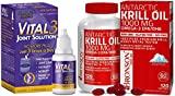 Vital 3 Joint Solution® Clinically Proven Liquid Knee Relief + Antarctic Krill Oil 1000 mg with Omega-3s EPA, DHA