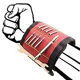 Regalo per uomini, braccialetto magnetico per artigiani, con 15 potenti magneti, regalo per papà, falegnami, regali per tenere attrezzi, viti, chiodi (rosso)
