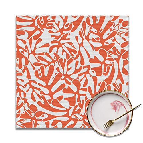 Architd Manteles Individuales para Mesa, facil de Limpiar, Resistentes a Las Manchas, Juego de 4 manteles Individuales para Cocina y Comedor, inspirados en Matisse, Personalizables