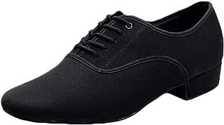 Aiweijia Men's Ballroom Dance Modern Dance shoes Adult Lacing Low heeled Casual shoes