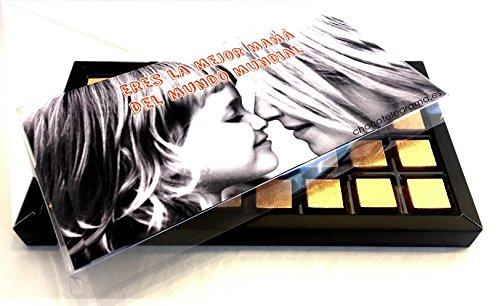 Chocomensaje –18 bombones de chocolate en una caja personalizada con tu imagen