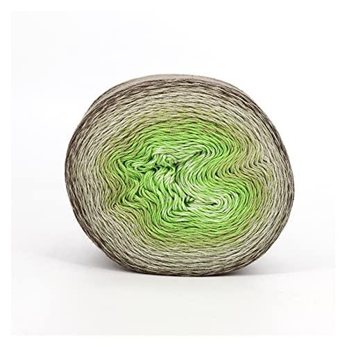 Katoen Garen Zomer mode cake garen 1000meters hand breien fancy garen voor haken van sjaal deken zachte katoen acryl draad Garen Katoenen Draad (Color : 111)