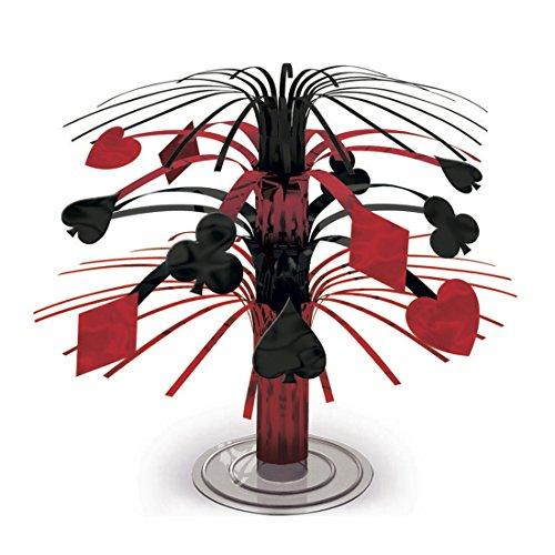 Cascade de table style Las Vegas Décoration de table casino 19 cm Cascade de table figurine décorative soirée des jeux équipement de fête Déco de fête à poser sur la table événement jeu de cartes