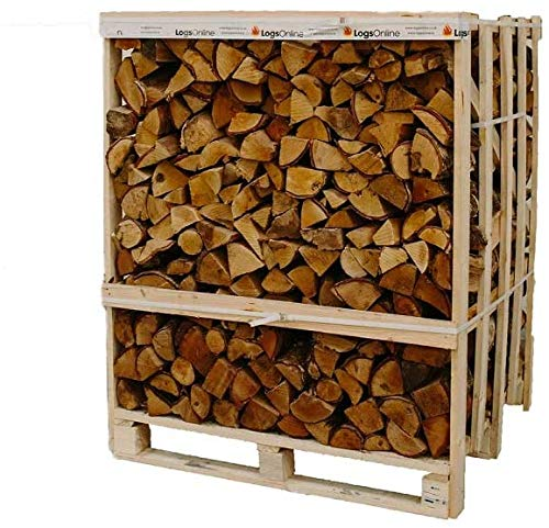 Jumbo Crate Kiln Dried Oak Hardwood Logs 2m3 800kg Woodsure Approved Ready to Burn, FSC Sourced