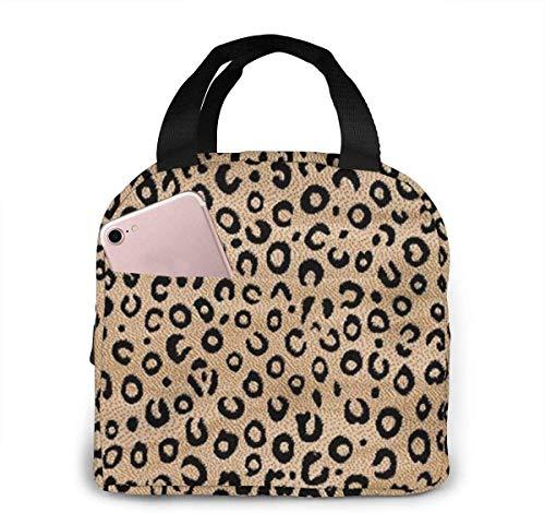 Bolsa de almuerzo con estampado de animales de color marfil negro para mujeres,niñas,niños,bolsa de picnic aislada,bolsa gourmet,bolsa cálida para el trabajo escolar,oficina,camping,viajes,pesca
