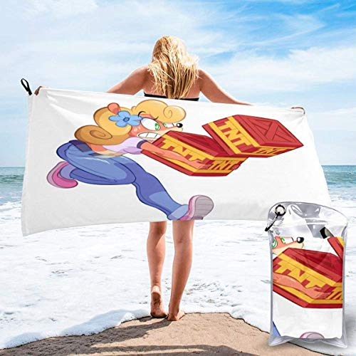 SFWER Cartoon Game Crash Bandicoot Quick Dry Bath Towels Portable Lightweight Travel Sports Towel Fast Quick Dry?/Super Absorbent?/Ultra Compact?/for Camping,Gym, Swimming Etc.(2 Sizes)