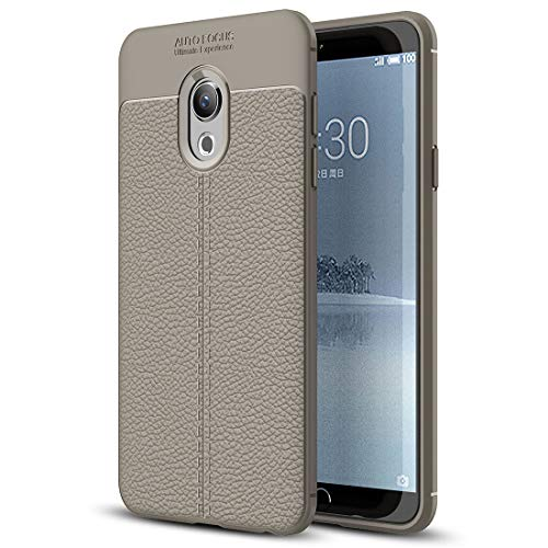 TKTK Handy-Taschen und Hüllen Litchi Texture TPU Schutzhülle for Meizu M15 und 15 Lite (Schwarz) (Farbe : Grey)