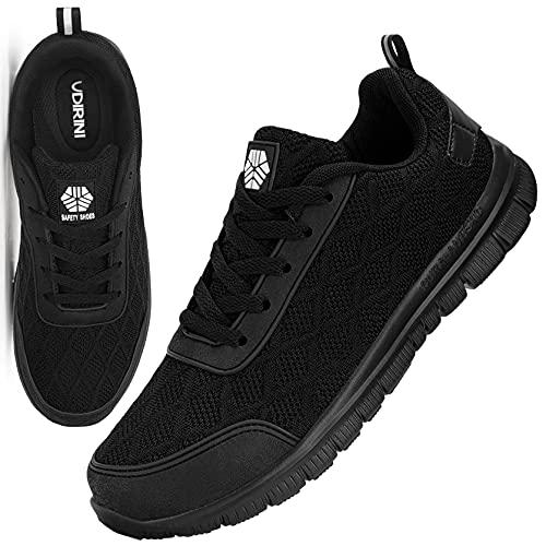 UDIRINI Zapatos de Seguridad para Hombre Ligero Transpirables Zapatillas de Seguridad con Puntera de Acero Antideslizantes Calzado de Zapatos (Noche Polar,42 EU)