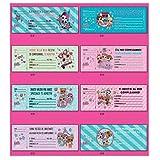 20 Biglietti D'INVITO LOL Surprise Modello Assortito per Bambine, Compleanno, Ragazze
